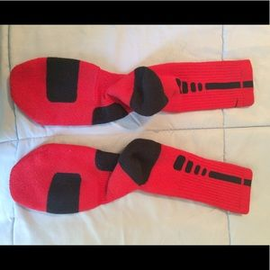 Nike Dri Fit Soccer Socks Red with Black